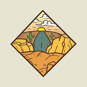 A journey monoline badge premium illustration