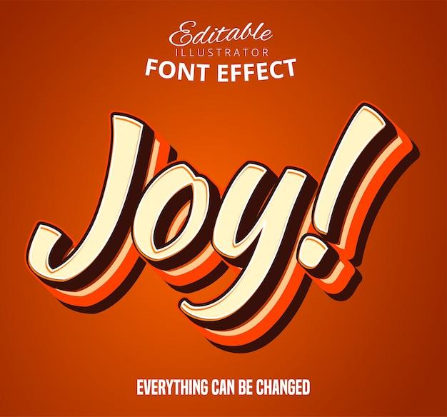 Текстовый эффект joy font