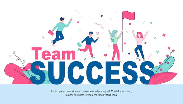 거 대 한 단어 팀 성공에서 즐거운 사업 사람들입니다.