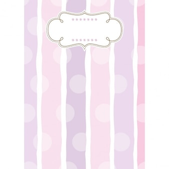 Joyful childish template background with strips and dots