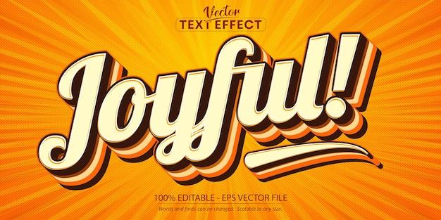 Приятный текст, стиль текста 70-х и 80-х годов и редактируемый текстовый эффект