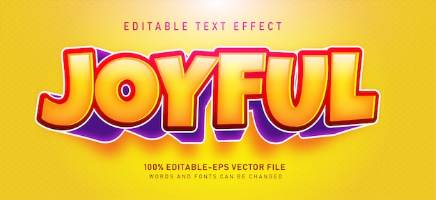 Joyful text effect