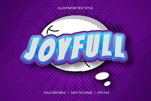 Joyfull, text style font effect  blue gradation