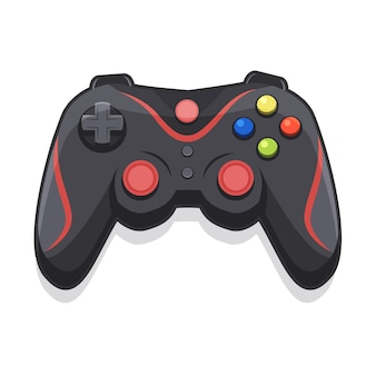 Joystick cartoon for gamers with white background
