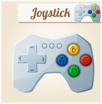 Joystick. cartoon vector illustration