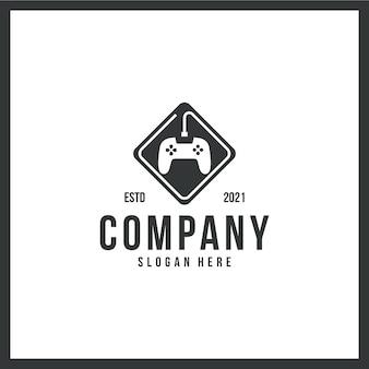 조이스틱 로고, 게임, 컨트롤러, 상표, 컨셉 컬러 흑백