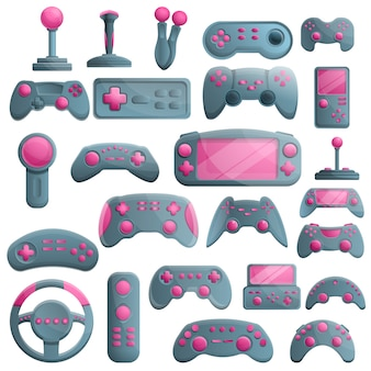 Joystick set, cartoon style