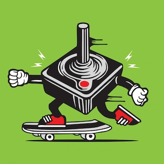 Joystick skater skateboard character