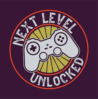 Joysticks gamepad illustration with quote