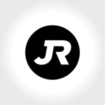 Jr initial monogram inside circle icon