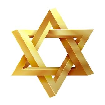 Stella del giudaismo. icona del sigillo di salomone. stella di david, stella ebraica, icona illustrazione della stella di israele