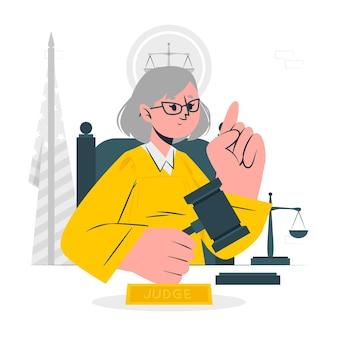Иллюстрация концепции судьи