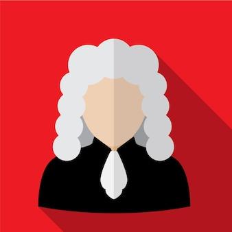 Judge flat icon illustration isolated vector sign symbol