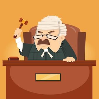 小槌を保持している裁判官