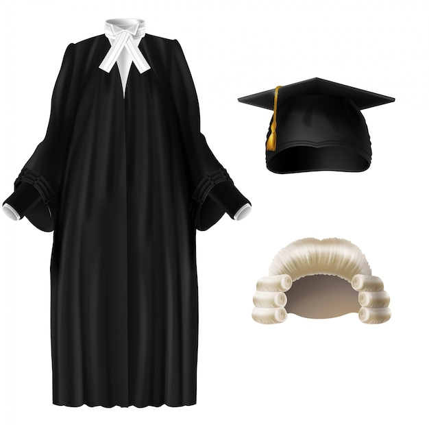 Judge, university professor, student graduation ceremonial clothing