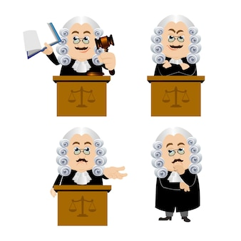 Judge with different poses