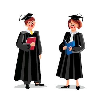 Судьи мужчина и женщина, пара судебных работников