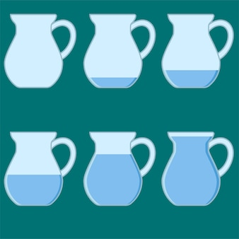 A jug filled with water empty vector