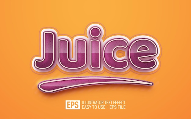 Juice 3d text editable style effect template