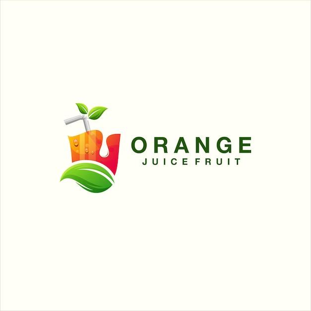 Juice color gradient logo design