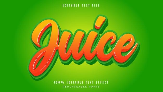 Juice editable text style effect