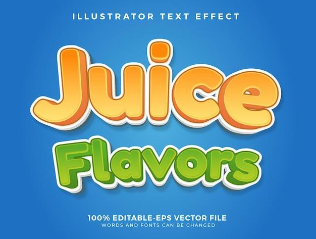 Juice flavors text effect