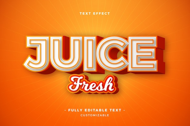 Juice fresh text effect