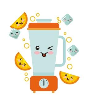 Juice fruit kawaii character isolated icon
