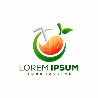 Juice gradient color logo design