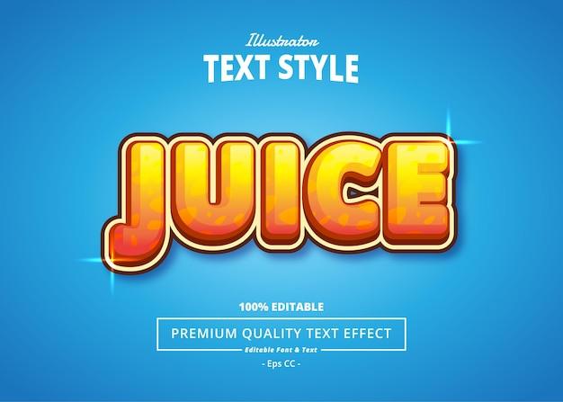 Juice illustrator text effect