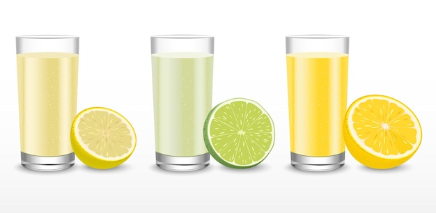 数種類のオレンジを選べるグラスジュース