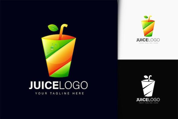 グラデーションのジュースのロゴデザイン