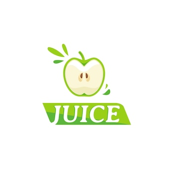 Juice logo with apple symbol
