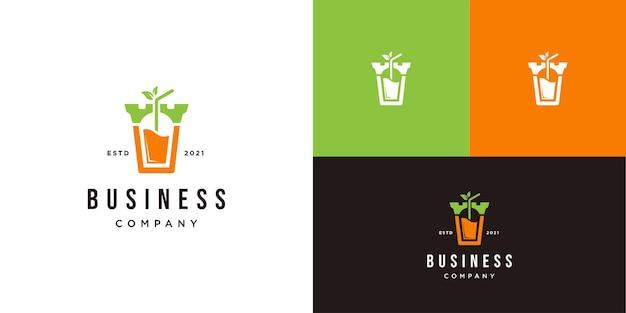 Juice logo with castle design template