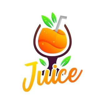 ジュースモダングラデーションカラフルなロゴ