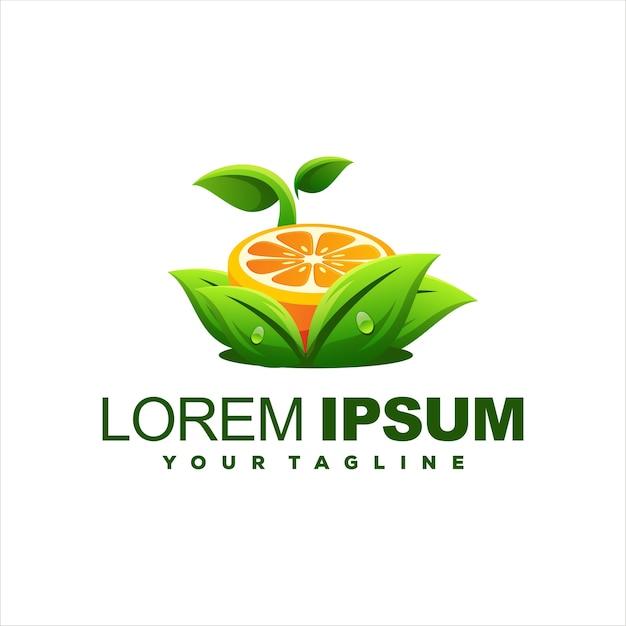 Сок апельсиновый градиент дизайн логотипа
