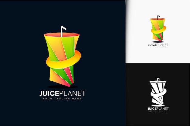 Juice planet logo design with gradient