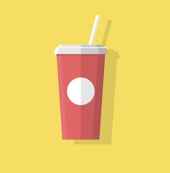 Juice and soda abstract flat style