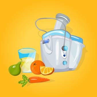 Juicer machine cartoon