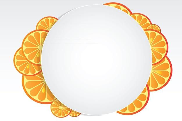 ジューシーなオレンジ-明るいベクトルデザイン要素と抽象的な背景