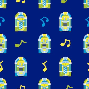 Jukebox pattern background
