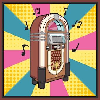 Музыкальный автомат ретро поп-арт