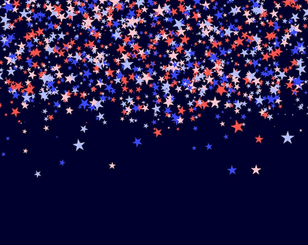 July 4th background made of stars