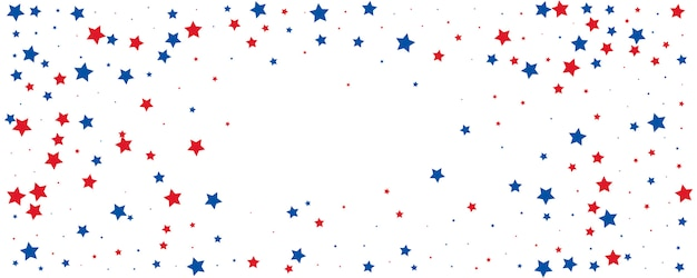 July fourth star confetti banner. background for independence day