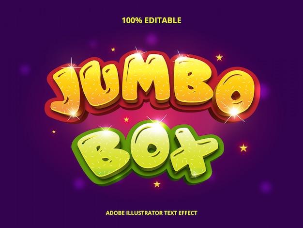Jumbo box text, cartoon style