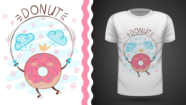 Jump donut idea for print t-shirt.