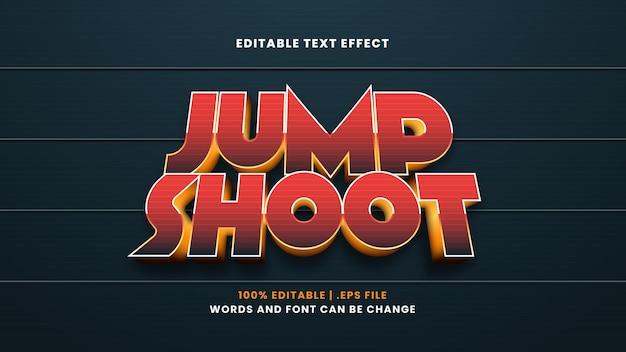 Редактируемый текстовый эффект в прыжке в современном 3d стиле