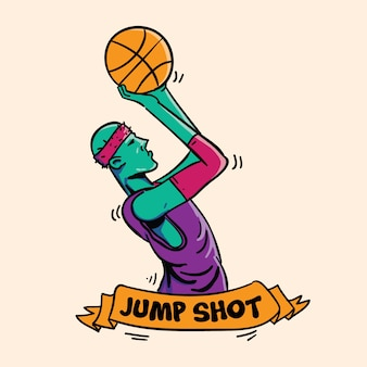 Jump shot icon