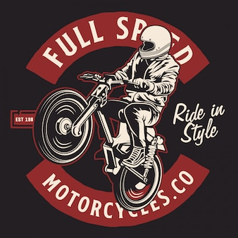 Jumping classic motorcycles