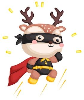 Jumping deer superhero